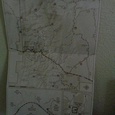 Trails Map you can get from Visitors Center