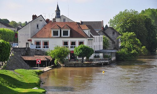 View of the restaurant from the bridge