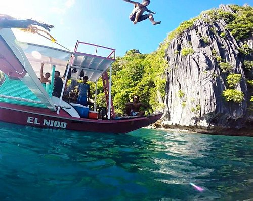 Jumping from the boat!