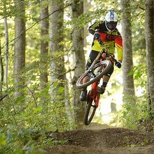 Rider on the Bike Resort Sinaia Trails