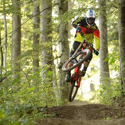 Rider on the Bike Resort Sinaia Trails