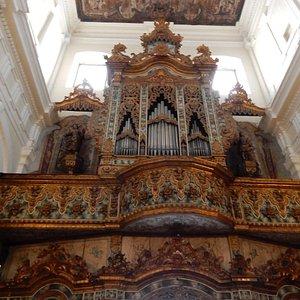 The beautiful organ gallery of San Pietro