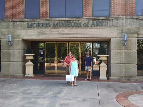 Visiting the Morris Museum of Art with local friends
