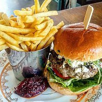 Our Lamb Burger with Feta Cheese