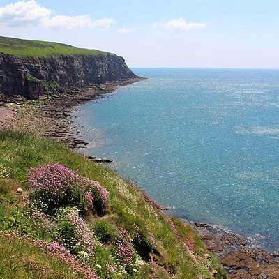 A view looking back over the St Bees coastal walk.