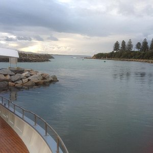 Bermagui Harbour Marina - looking NE out of the harbour