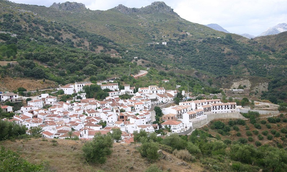 View of the village of Benadalid with the San Isidro church in the foreground