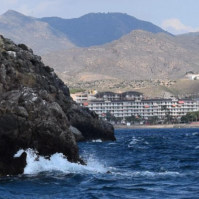 Playa del Rihuete viewed from the sea