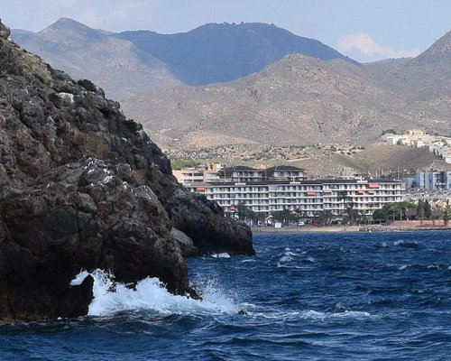 Playa del Rihuete viewed from the sea