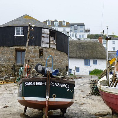 Capstan Gallery from the harbour in Sennen Cove.