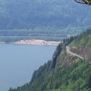 View down towards Cape Horn Viewpoint
