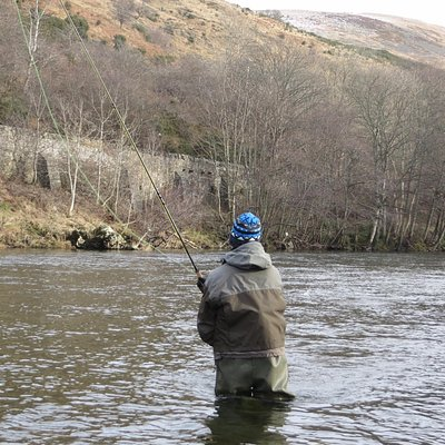 Fly fishing the River Tweed in winter