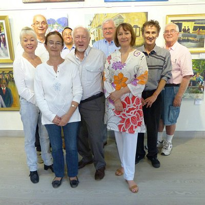 A group of us at the Royal Queensland Art Society, Gold Coast