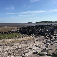 Rockcliffe beach with tide out