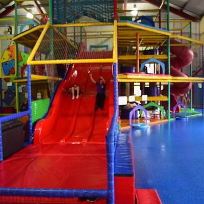 Slides, Wall Climb and ball pit all indoors