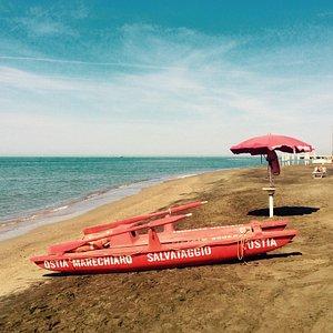 Beach of Marechiaro in Lido die Ostia