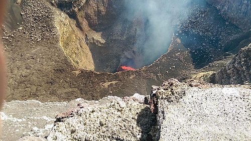 Masaya Volcano is a must see...It was hard to capture with my cell. Being there was powerful!