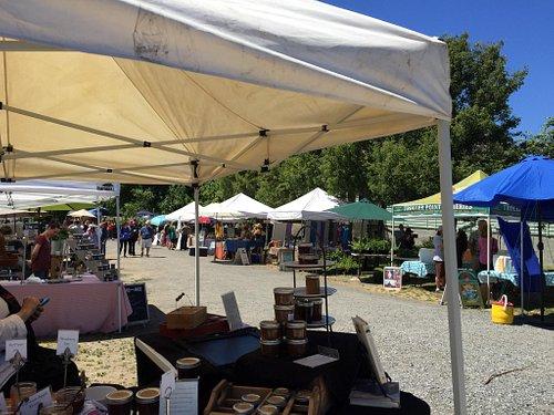 Orcas Island Farmers Market on a beautiful June day.