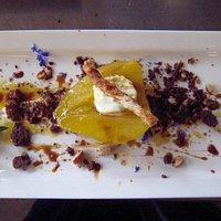 Pear crumble...amazing dessert