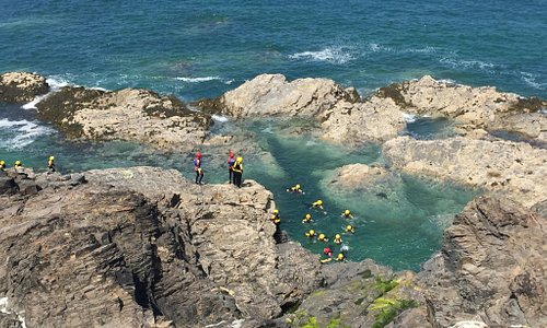 The kids had amazing time doing the Coasteering! Well worth the money, the instructors were fabu