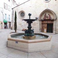 Toegangsdeur en fontein