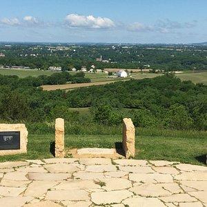 View of three states, Illinois, Iowa, Wisconsin.