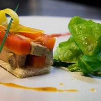 Notre Marbré au foie gras et aux carottes pochées (Saison Printemps 2016)