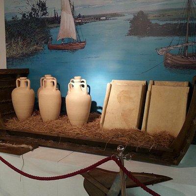 Ricostruzione del carico di una nave di epoca romana