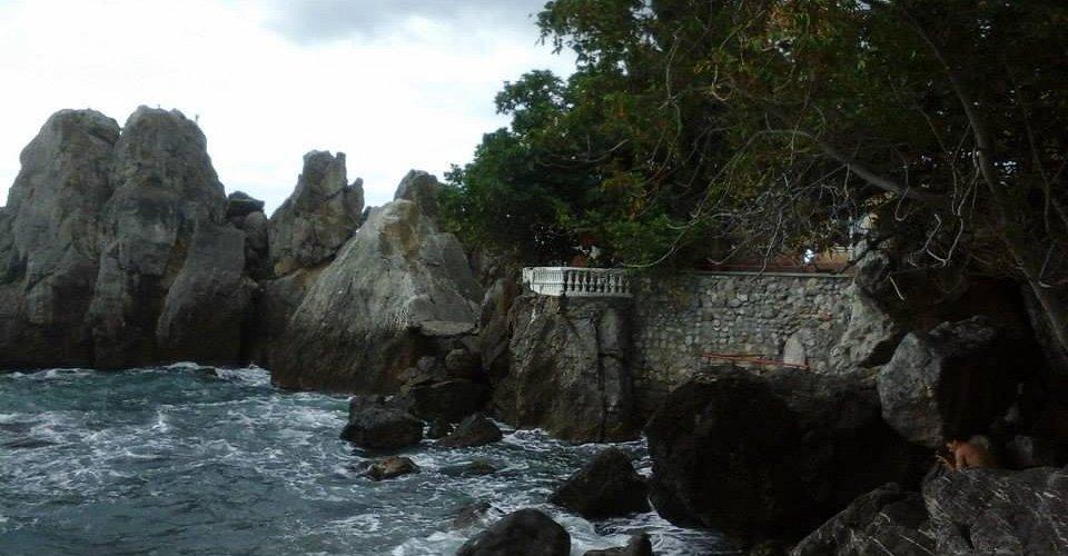 Бухта, где расположена дача А.П.Чехова.