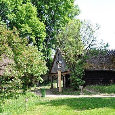 Początek muzeum - pierwsze chaty.