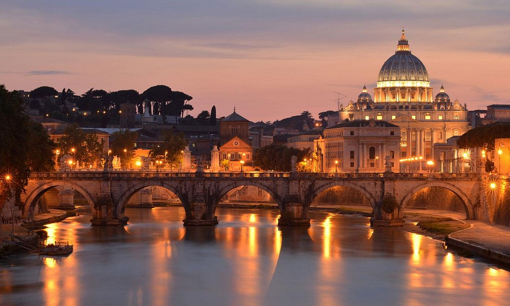 Il Tevere e Basilica di San Pietro, Roma