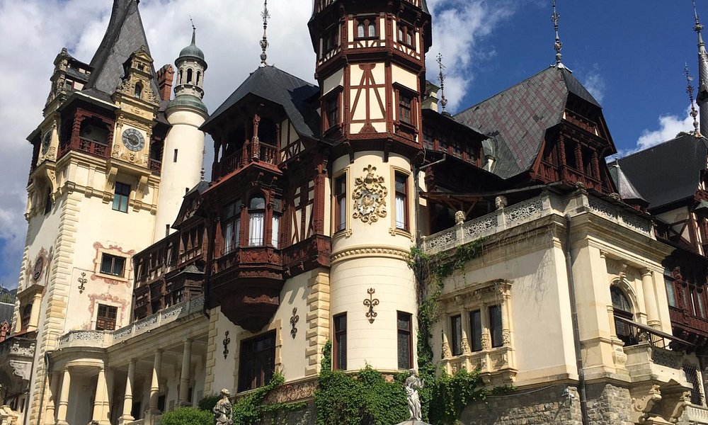 Peles Castle from the gardens