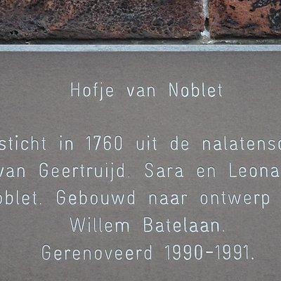 HOFJE VAN NOBLET;Nieuwegracht;HAARLEM