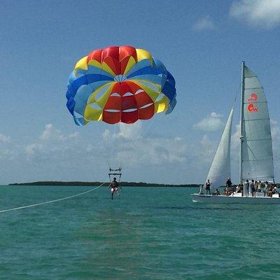 Sailing Sailing ParaSailing on Florida Bay