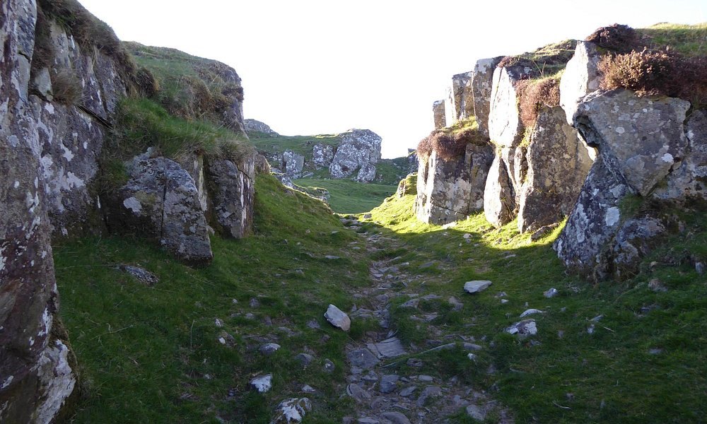 Path through the rocky defile