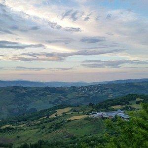 Panorama stupendo e paese caratteristico