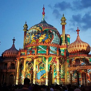 The Royal Pavilion With Dr Blighty 3D Light Projection May 2016