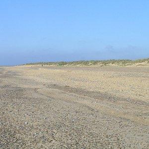Denes Beach backed by dunes