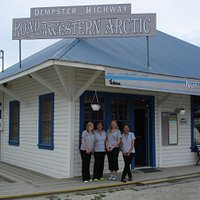 Staff at the NWT Dempster Highway Visitor Centre