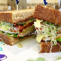 Wow!  They grind the wheat for the fresh whole wheat bread!  This is the Artichoke with Turkey s