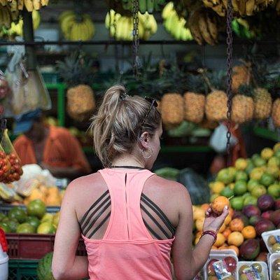 out shopping for fruits in the Mercado Central de Envigado