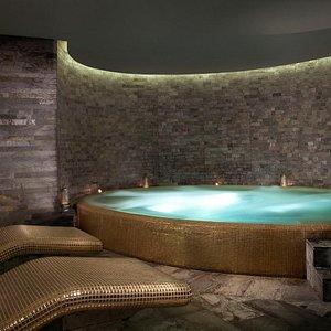 Wet spa area at Atarmia Spa
