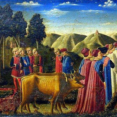 Traslazione del corpo di S. Rufino - Predella Polittico di S. Rufino (Niccolò Alunno)