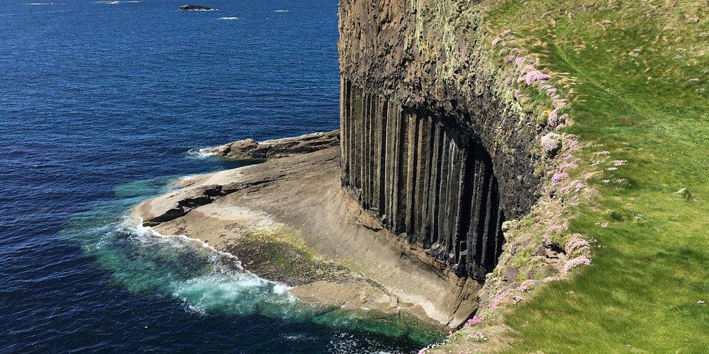 Isle of Staffa basalt cliffs