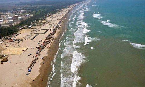 Vista áerea de la playa