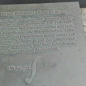 Detail Leibnizdenkmal