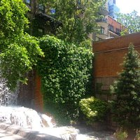 Greenacre Park waterfall