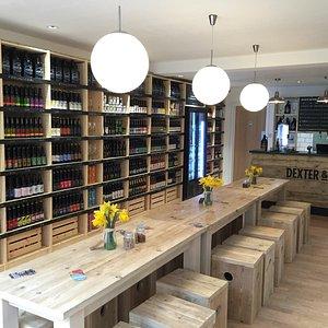 Dexter & Jones Craft Beer & Artisan Gin Bottle Shop & Bar, Knutsford.