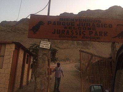Parque jurásico Querulpa en Arequipa