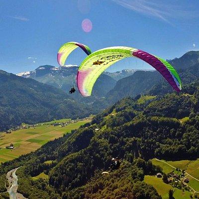 Vol au dessus de Samoens